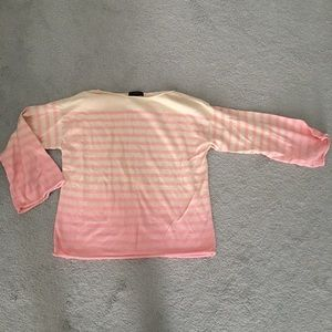J.Crew Pink Ombre Striped Sweater